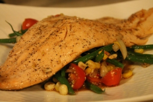 Rainbow Trout & Green Beans Provencial - Candy Coated Culinista