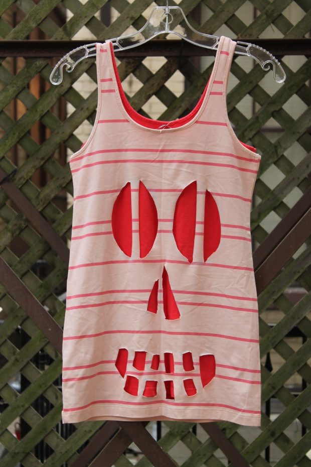 DIY Skull Cut-Out Tank - Candy Coated Culinista