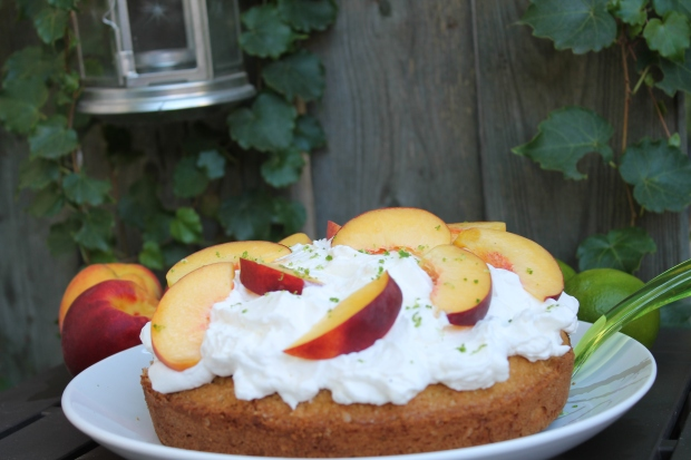 Peaches & Cream Cake - Candy Coated Culinista