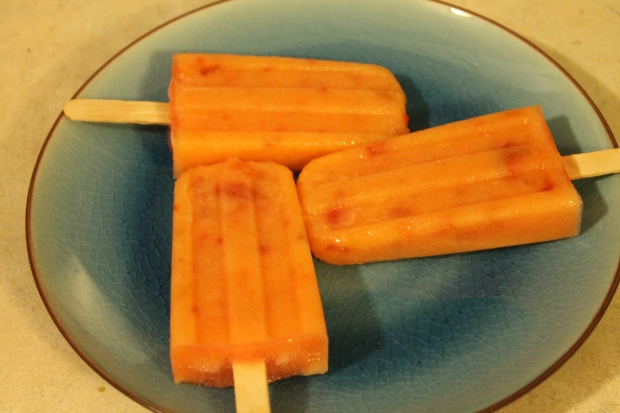 Peach & Whiskey Ice Pops - Candy Coated Culinista