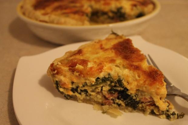 Kale, Ham & Cheddar Quiche - Candy Coated Culinista