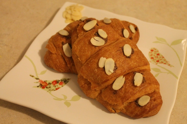 Nutella & Almond Croissants - Candy Coated Culinista