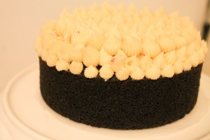Guinness Cake with Caramel Bailey's Black Currant Buttercream - Candy Coated Culinista
