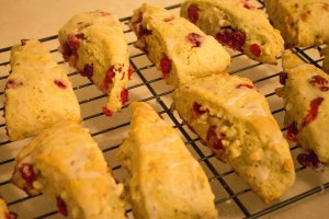 Lemon Meringue Cranberry White Chocolate Chip Scones with Lemon Glaze - Candy Coated Culinista