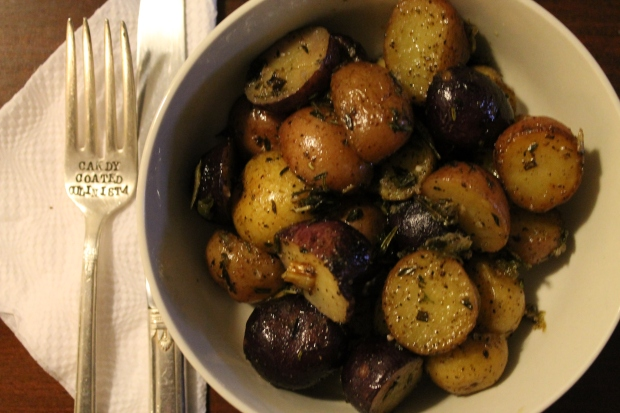 Salt & Vinegar Mini Jewel Potatoes - Candy Coated Culinista