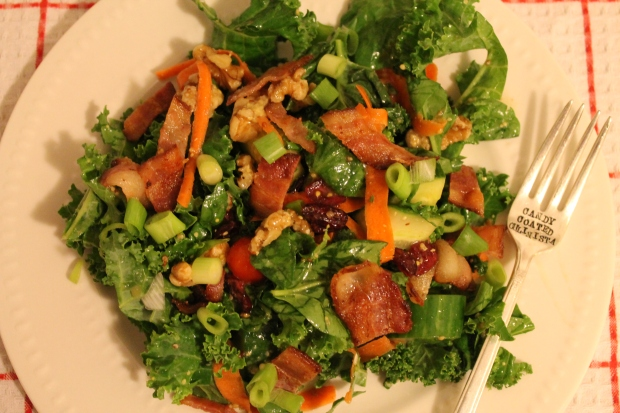 B.K.T. (Bacon Kale & Tomato) Salad - Candy Coated Culinista