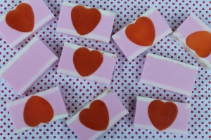 DIY Soap-Making - Tri-Layered Orchid Blossom Heart Soap with Tuberose - Candy Coated Culinista