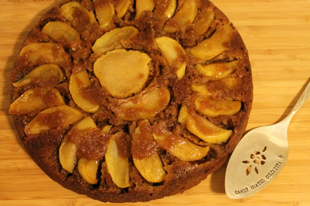 Maple-Honey Upside Down Apple Cake - Candy Coated Culinista