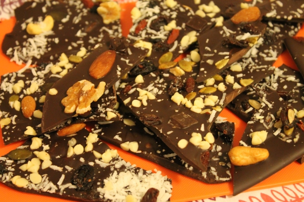 Paleo Fruity Nutty Chocolate Bark - Candy Coated Culinista