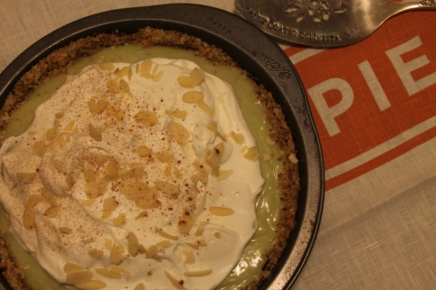 Gluten-Free Pistachio Almond Coconut Cream Pie - Candy Coated Culinista