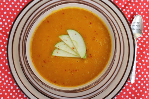 Buttercup Squash & Green Apple Soup - Candy Coated Culinista