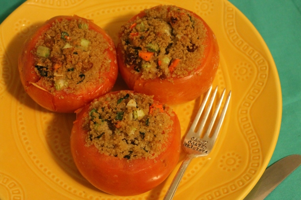 C is for … Couscous Stuffed Tomatoes - Candy Coated Culinista