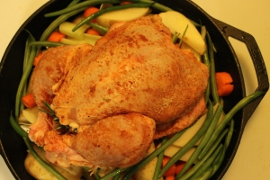 Skillet Roast Chicken & Vegetables - Candy Coated Culinista