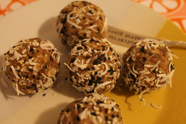 F is for ... Raw Fig Almond Balls  - Candy Coated Culinista