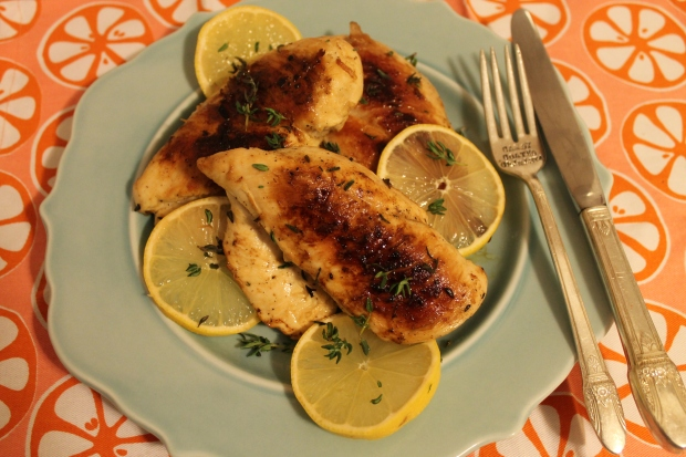 Pan Roasted Lemon & Thyme Chicken Breast - Candy Coated Culinista