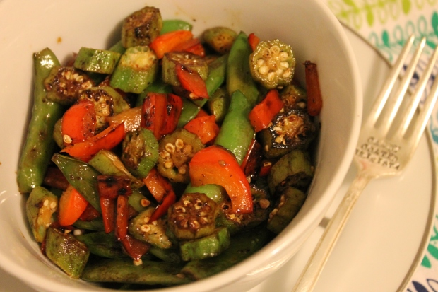 O is for … Okra Vegetable Medley - Candy Coated Culinista