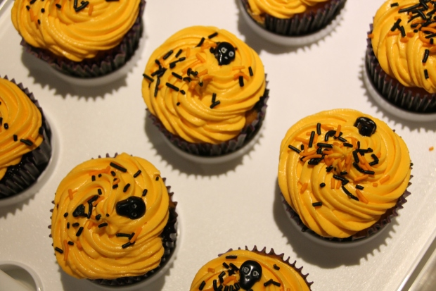 Halloween Block Party Cupcakes - Candy Coated Culinista