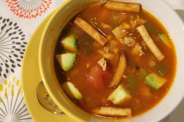 Cinqo De Mayo: Chorizo & Chicken Tortilla Soup - Candy Coated Culinista