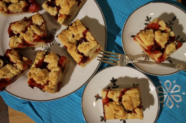 Christmas Cherry Pie Bars - Candy Coated Culinista