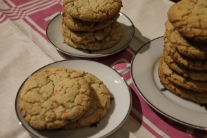 Confetti Cookies with Birthday Cake Crumbs - Candy Coated Culinista