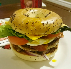 Epic Breakfast Bagel - Candy Coated Culinista