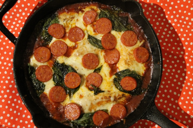 Chicken Pepperoni Basil Crustless Pizza - Candy Coated Culinista