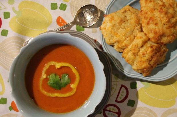 Creamy Roasted Red Pepper Soup - Candy Coated Culinista