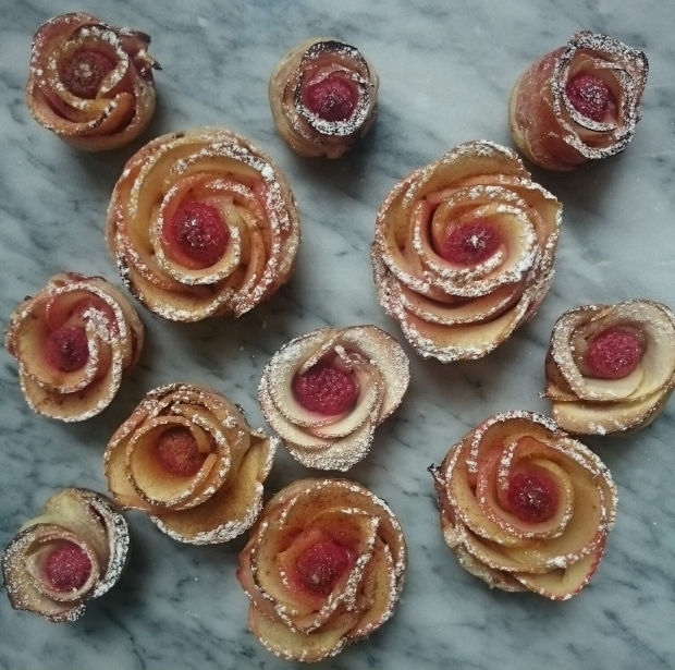 Apple Rose Tarts - Candy Coated Culinista