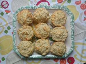 Cheddar Biscuits - Candy Coated Culinista