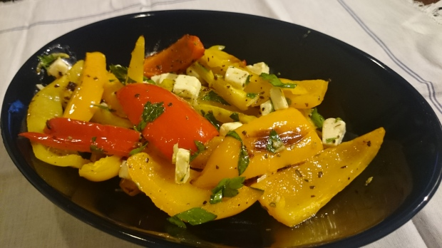 Mediterranean Baked Peppers - Candy Coated Culinista