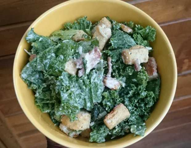 Kale Caesar Salad - Candy Coated Culinista