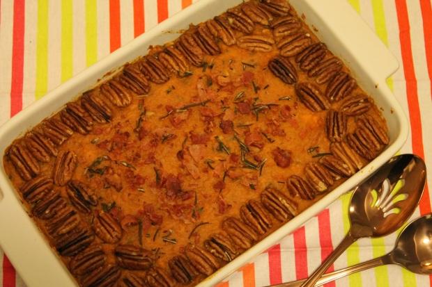 Savoury Holiday Sweet Potato Casserole - Candy Coated Culinista