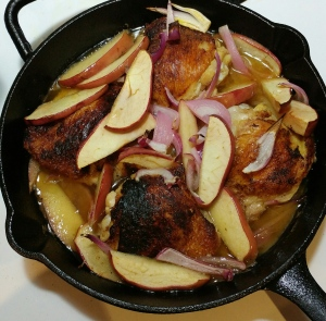 Cider Braised Chicken - Skillet Version - Candy Coated Culinista
