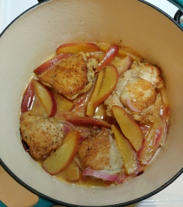 Cider Braised Chicken - Dutch Oven Version - Candy Coated Culinista