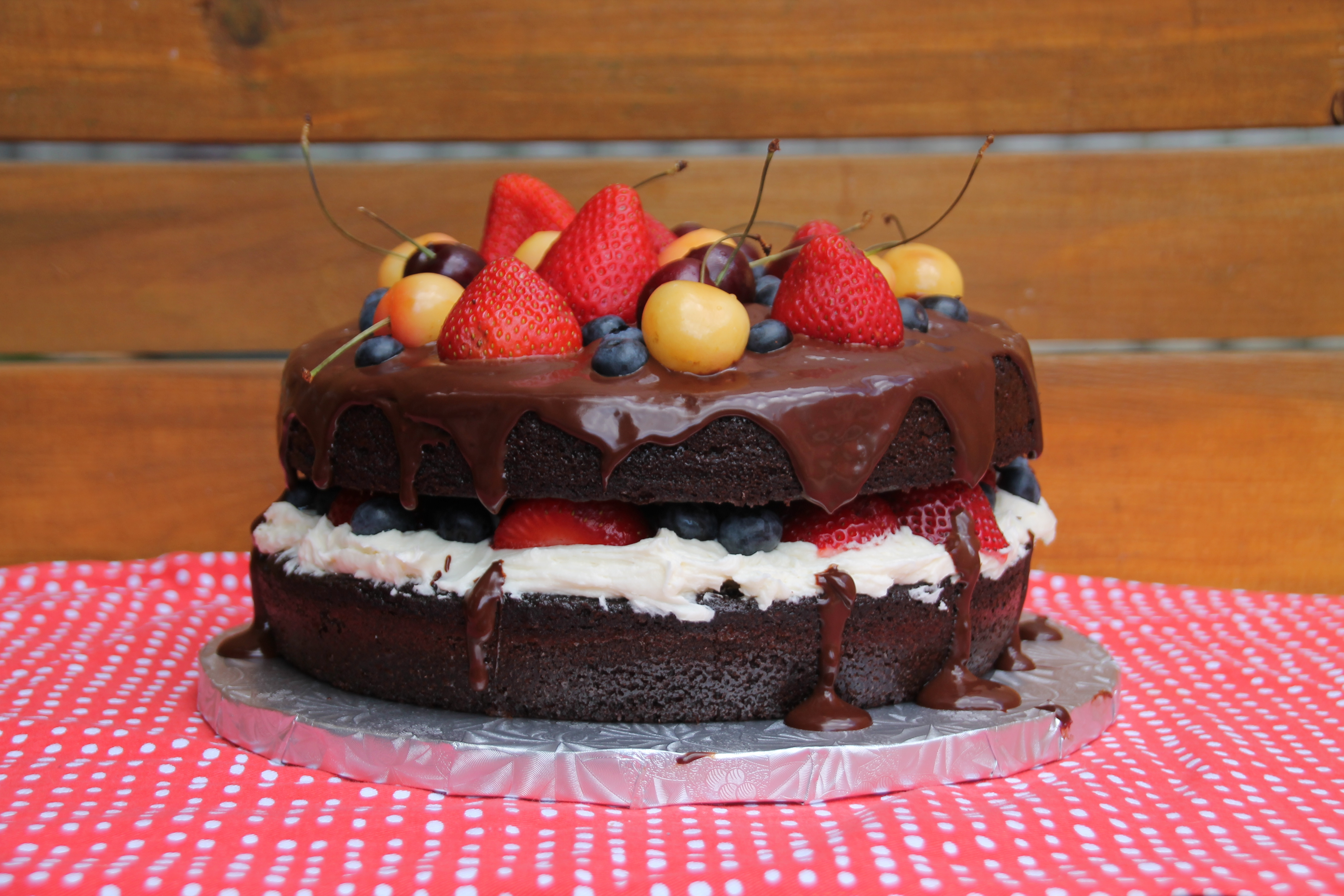 Awesome Naked Chocolate Birthday Cake With Buttercream Icing And Summer Funny Birthday Cards Online Elaedamsfinfo