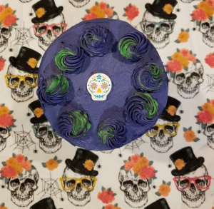 Sugar Skull Fault Line Cake - Candy Coated Culinista