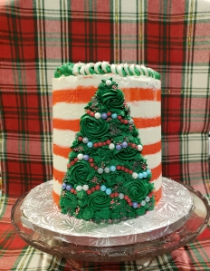 Christmas Candy Cane Cake - Candy Coated Culinista
