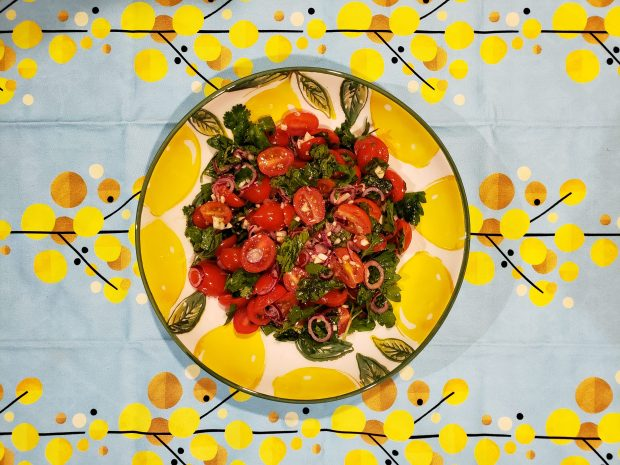 Grape Tomato Salad with Parsley and Dill - Candy Coated Culinista