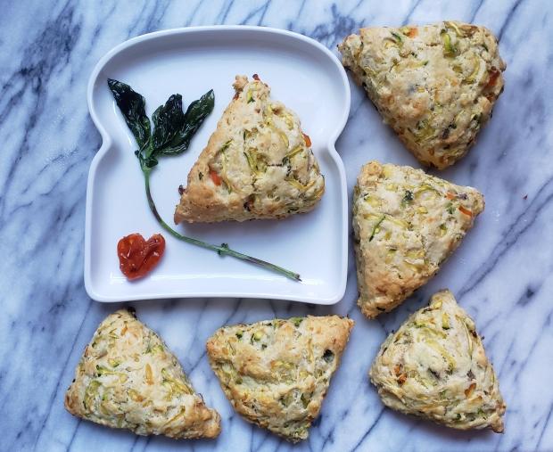 Zucchini & Feta Scones - Candy Coated Culinista